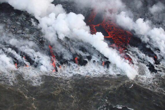 Ein Lavastrom am Kilauea auf Hawaii, aufgenommen am 5. August 2018. (Credits: USGS)