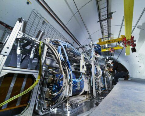 Das FASER-Experiment im LHC-Tunnel. (Image: CERN)