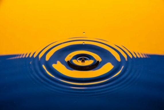 Konzentrische Wasserwellen als Analog zu den im Experiment beobachteten Energiewellen. (Credits: Izzy Gibson / Unsplash)