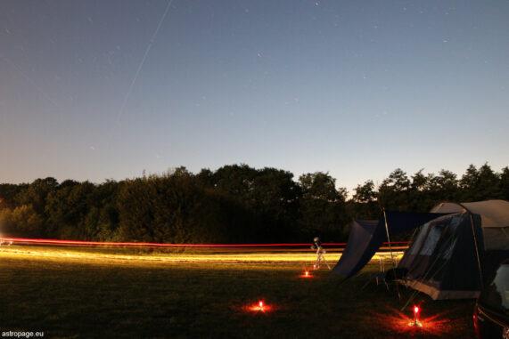 Überflug der Internationalen Raumstation ISS (und Vorbeifahrt der Nachtwache). (Credits: astropage.eu)