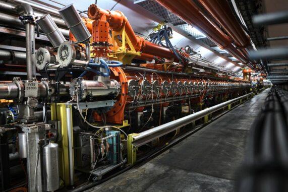 Das Super Proton Synchrotron, der zweitgrößte Beschleuniger am CERN. (Credits: Image: CERN)