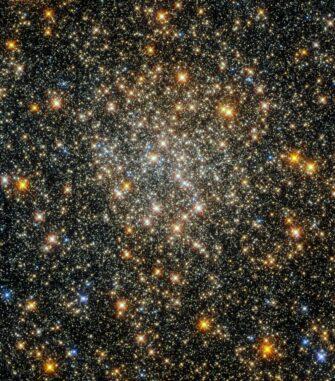 Hubble-Aufnahme des Kugelsternhaufens ESO 520-21. (Credits: ESA / Hubble and NASA, R. Cohen)