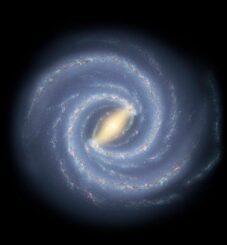 Künstlerische Darstellung der Milchstraßen-Galaxie, deren Entwicklung COSI untersuchen wird. (Credits: NASA / JPL-Caltech / R. Hurt (SSC / Caltech)