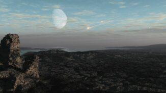 Diese Illustration zeigt große Asteroiden, die in die sauerstoffarme Atmosphäre der jungen Erde eintreten. (Credits: Courtesy of SwRI / Dan Durda, Simone Marchi)
