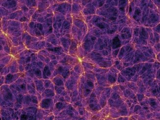 Simulation der Verteilung von Dunkler Materie im Universum. (Credits: V. Springel et al. 2005)